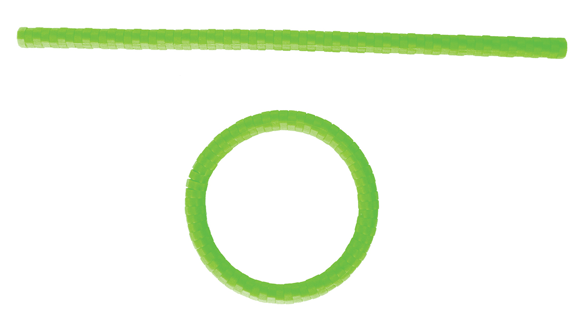 Twist Foldable silicone trivet - green