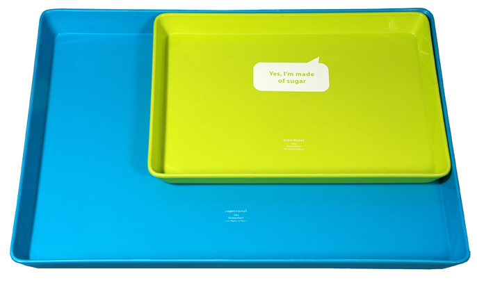 JUST SUGAR  DOUBLE-TRAY set of 2 blue & green