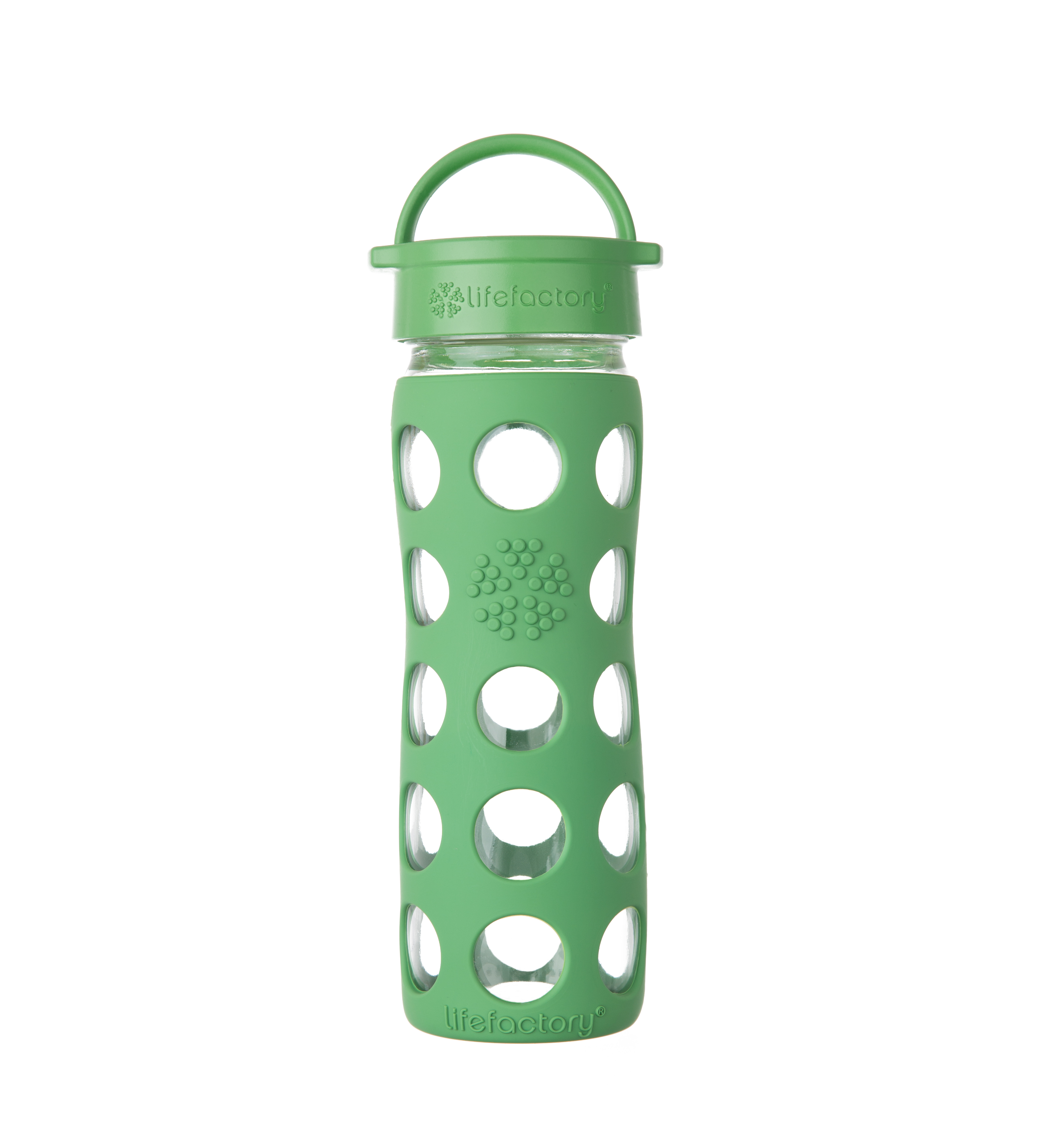 Lifefactory 16 oz Bottle with Classic Cap - Grass Green