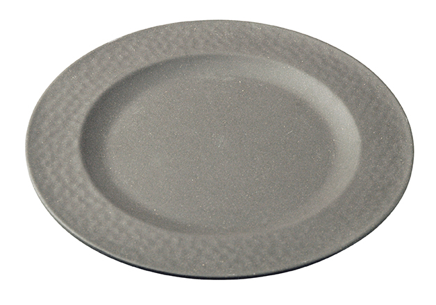 Small Plate HAMMERED Grey