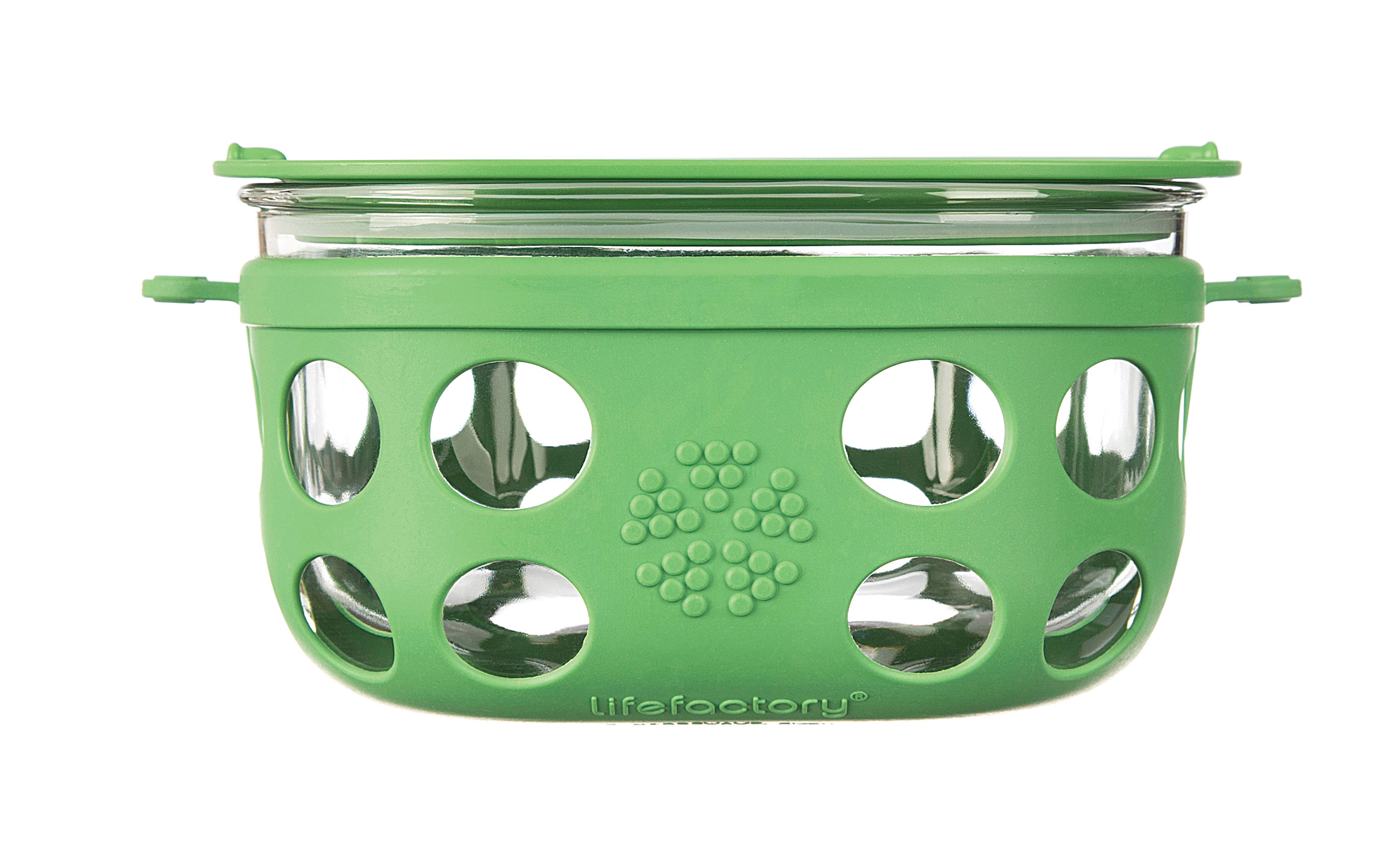 Lifefactory 4 Cup Glass Food Storage - Grass Green