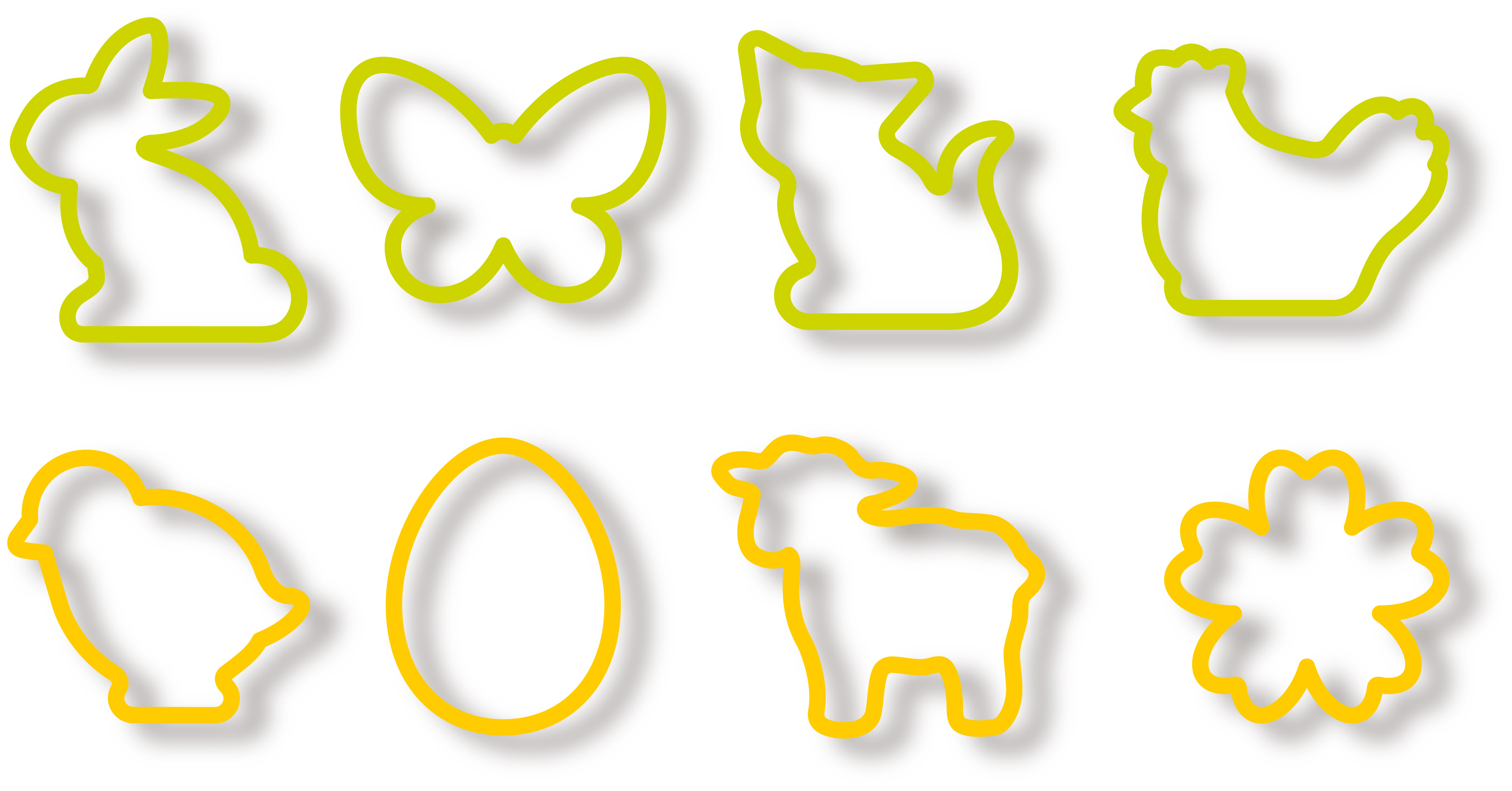 Easter Cookie Cutters, 8 Pcs Delicia