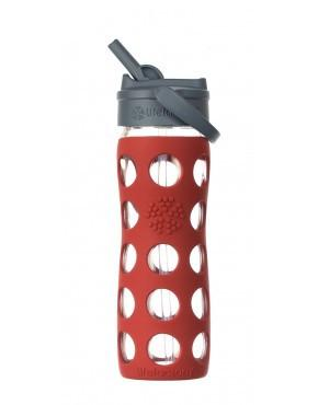 16oz / 475ml Straw Cap Bottle Red